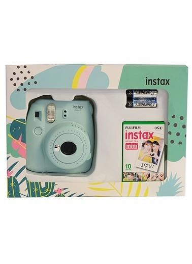 Fujifilm Instax Mini 9 Açık Mavi Mini Kit Mavi